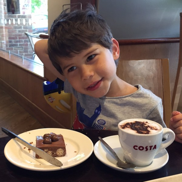 Toby at Costa