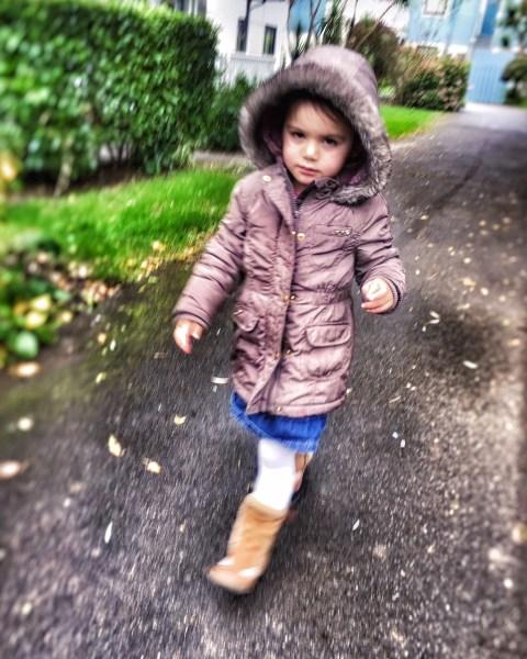Kara striding