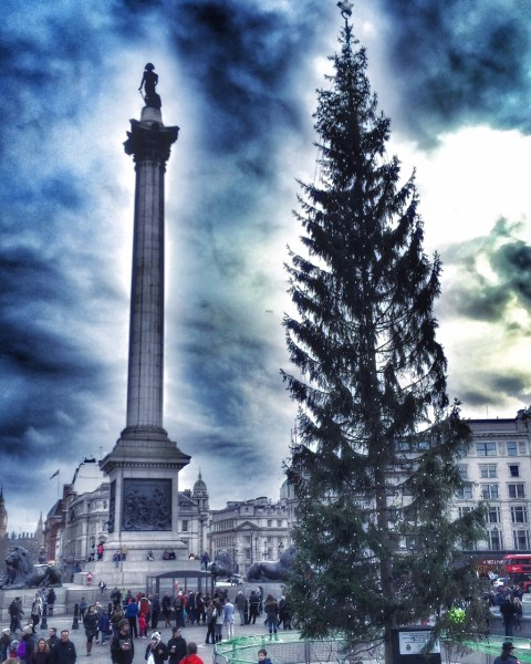 Trafalgar Square with Christmas tree