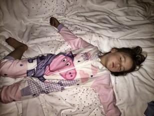 Kara crashed out sleeping