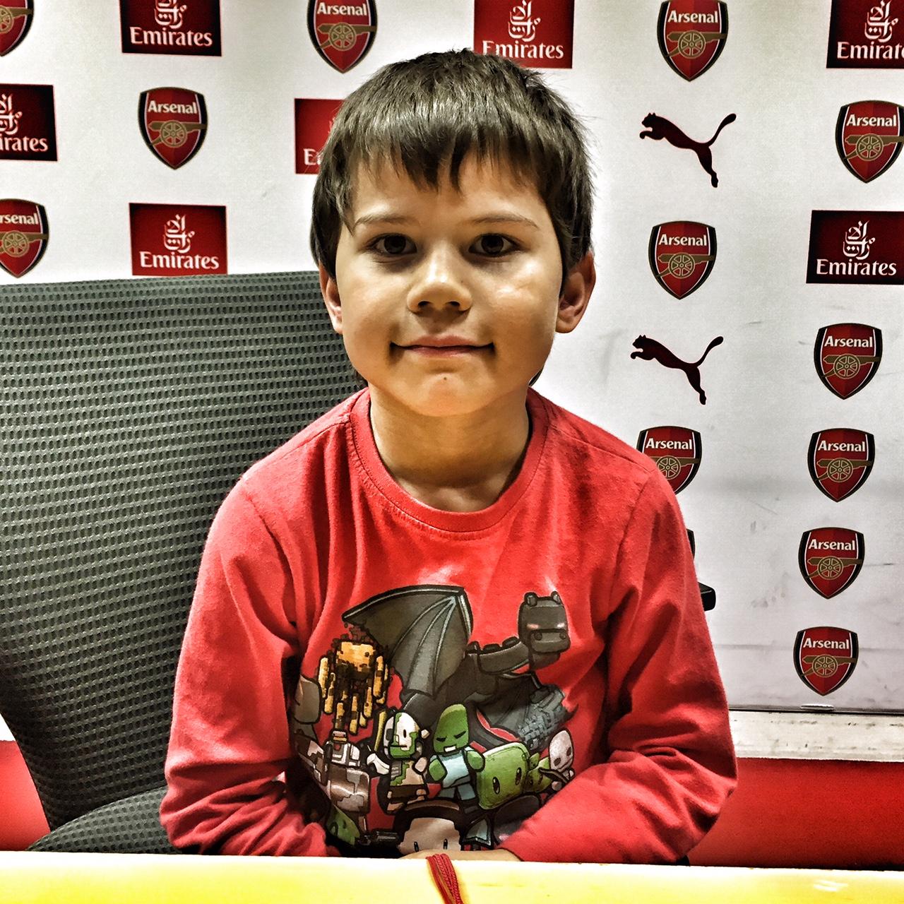 Toby press conference Emirates Stadium
