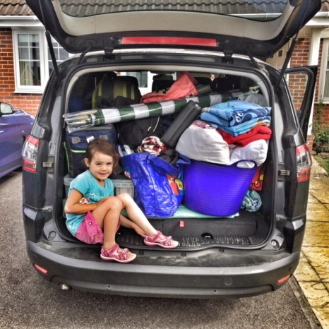 Camp Bestival car loaded up
