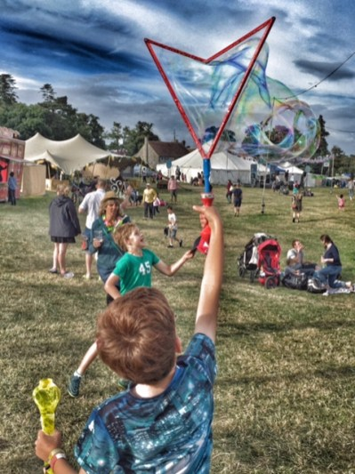 Camp Bestival Isaac bubbles 2