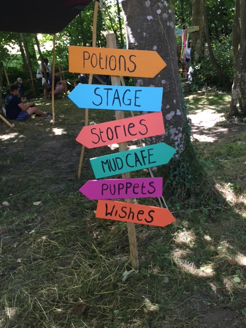 Camp Bestival Lizzie's garden sign