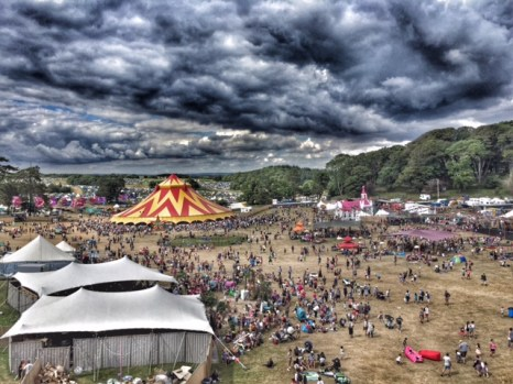 Camp Bestival view from ferris wheel 4