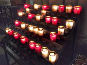 Paris votive candles Notre Dame