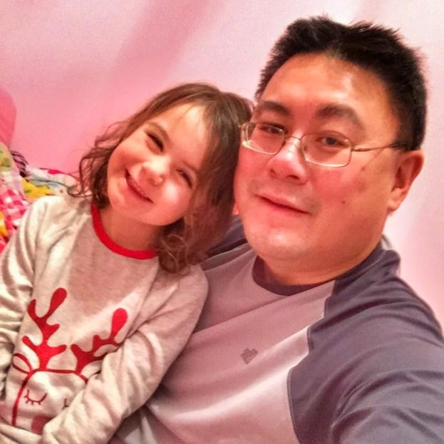 Daddy and Kara bedtime