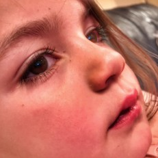 Kara close up eyes