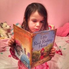 Kara reading book
