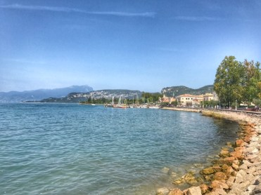 Summer holiday 2017 Bardolino boardwalk view Lake Garda
