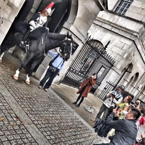 Horse Guards Parade tourists
