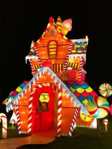 Longleat Festival of Light Gingerbread House Hansel and Gretel