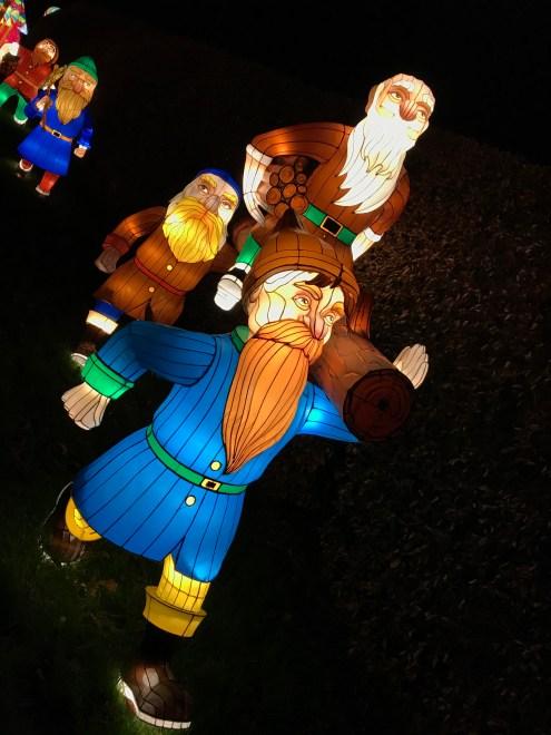 Longleat Festival of Light Seven Dwarves