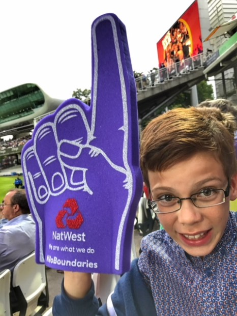 Isaac's 10th birthday letter at Lord's