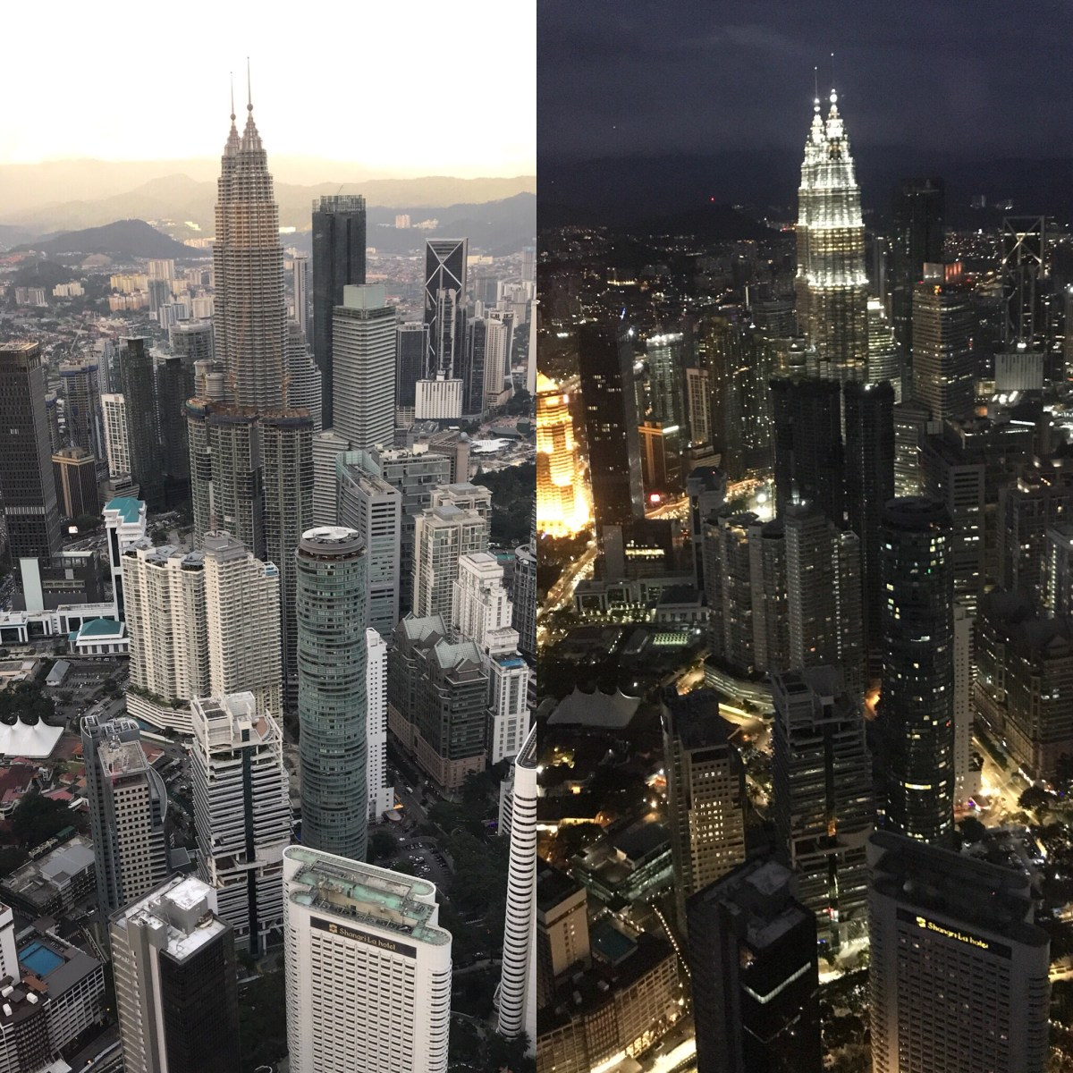 My Sunday Photo: Petronas Twin Towers by day and night