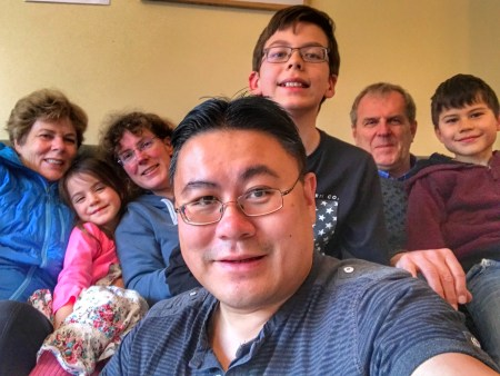 Easter 2018: Liew/Becu family selfie