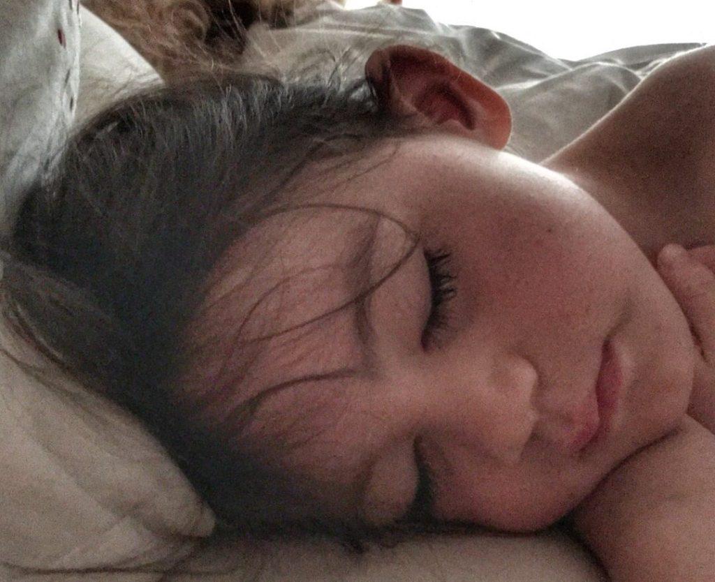 Kara daughter sleeping