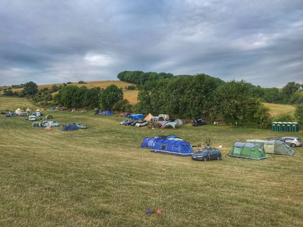Camping at Uffington