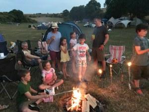 Camping at Uffington