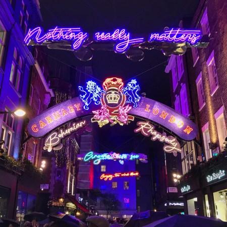 Lyrics in lights Bohemian Rhapsody Queen
