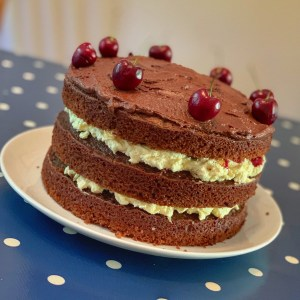 Toby's 10th birthday Black Forest gateau