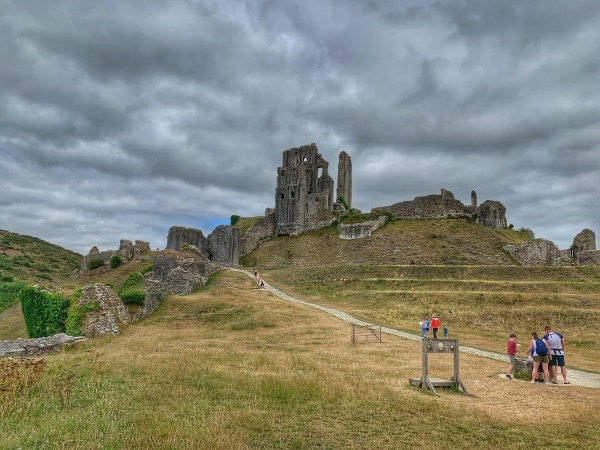 A view of Corfe Castle