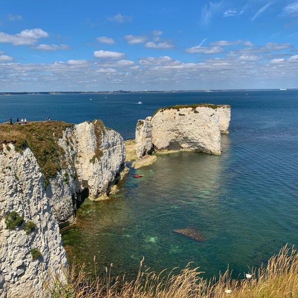 A view of Old Harry Rocks in Dorset