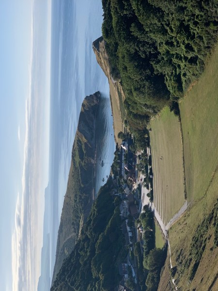 A view of the bay at Lulworth Cove