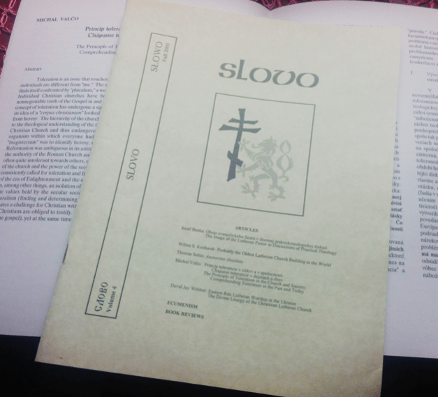 Publication of Slovo, a theological journal