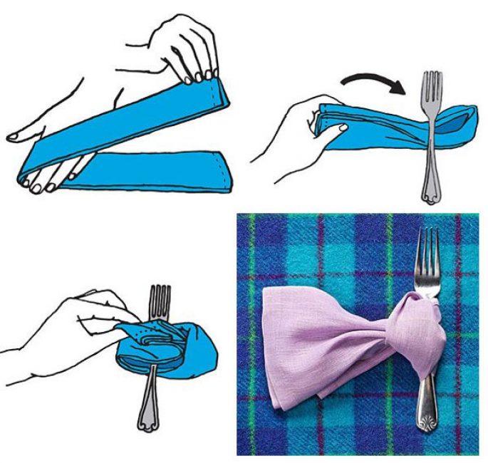 Η σερβιέτα γυρίζει τη χαρτοπετσέτα μετατρέπεται σε μια κομψή γραβάτα