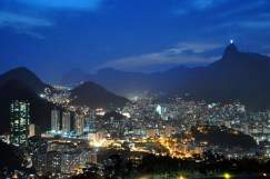 Rio at night from Urca Mountain