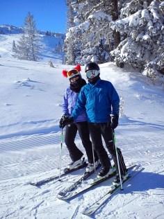 Slovenians travel on Ski slope Ogorjelica - Poljice