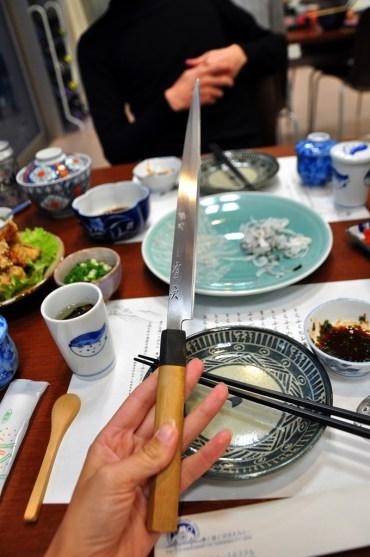 The knife for Fugu Sashimi