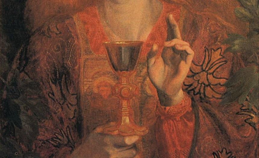 Данте Габриэль Росетти. Святой Грааль. (Фрагмент)