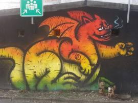 Wall art, Ljubljana, Slovenia (photo by: K.L.)