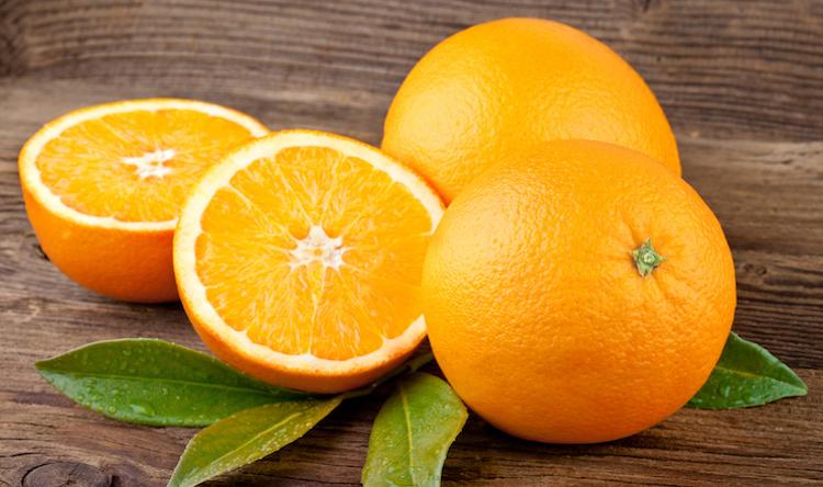 Oranges Fruit over Wooden background