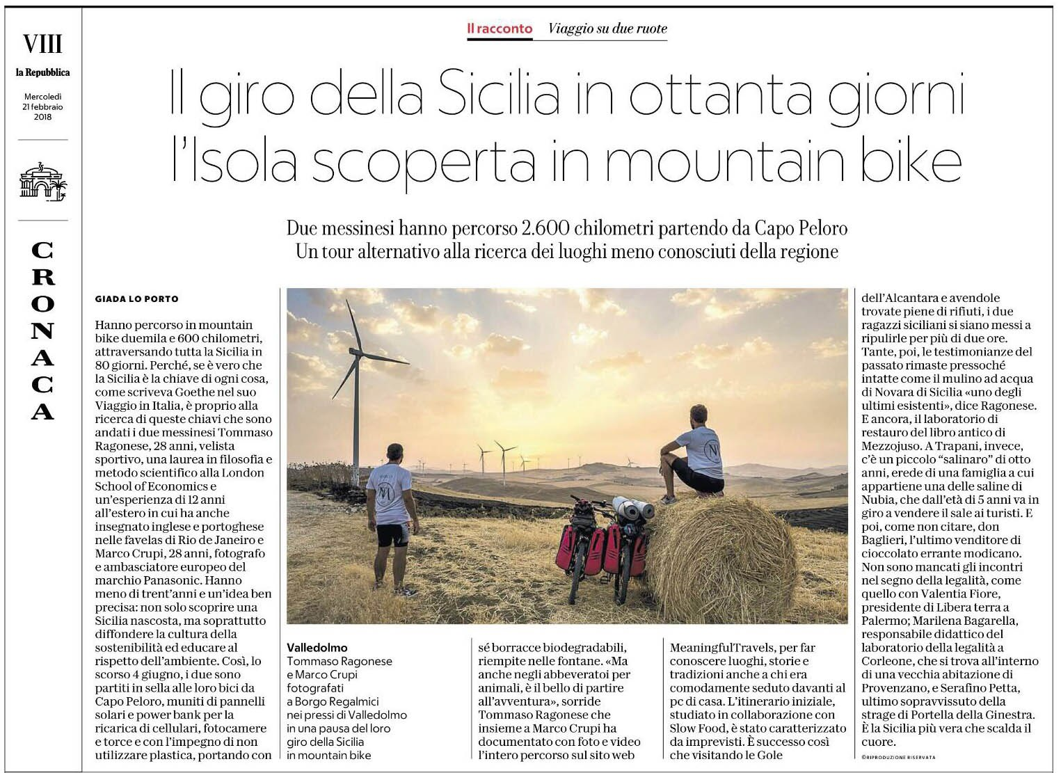 La Repubblica Around Sicily in 80 days