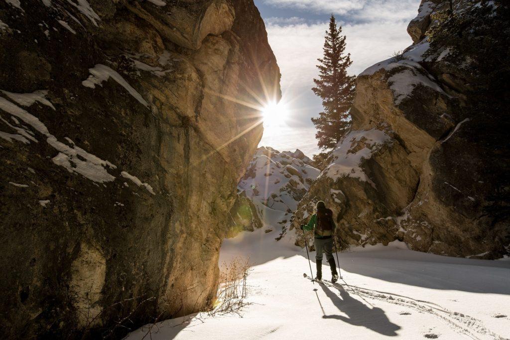 skiing skier slow ski montagne mountain neige snow