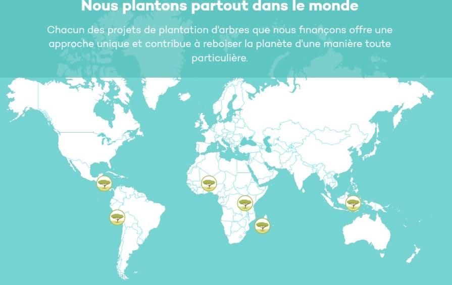 Ecosia Mapmonde carte du monde