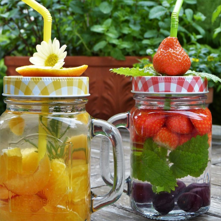 glasses verres fruit eau water