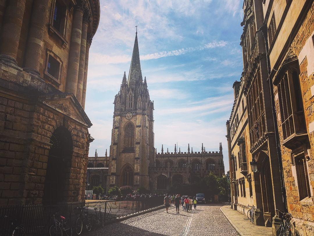 Oxford ville église vieilles rues