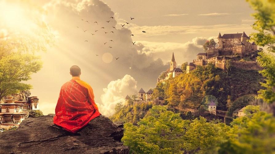 méditation moine zen montagne