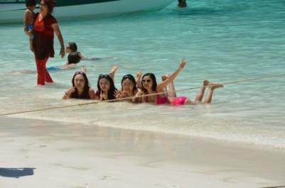 Ze mermaids... Maya Beach, Koh Phi Phi. Photo: ©SLOWAHOLIC