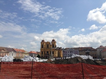 Se lucrează peste tot în centrul orașului. Timișoara, aprilie 2014. Foto: ©Slowaholic