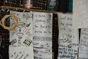 Bilețele de la clienții barului. :) Koh Phi Phi. Thailand. Photo: ©Slowaholic