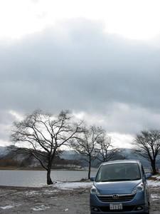 裏磐梯・檜原湖畔にて ステップワゴン