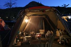 クリスマスでキャンプ