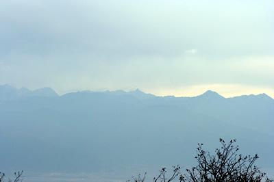 高ボッチ高原から眺める北アルプス