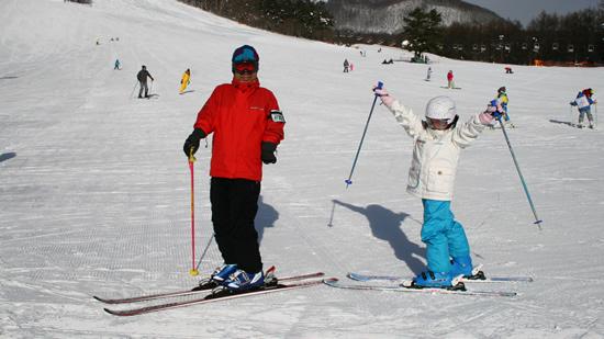 草津国際スキー場にて