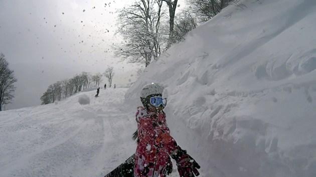 年末雪遊び
